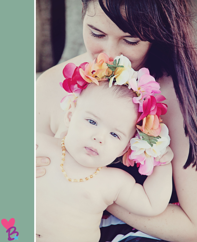 Cute baby in flower crown