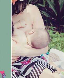 Cropped breastfeeding photo