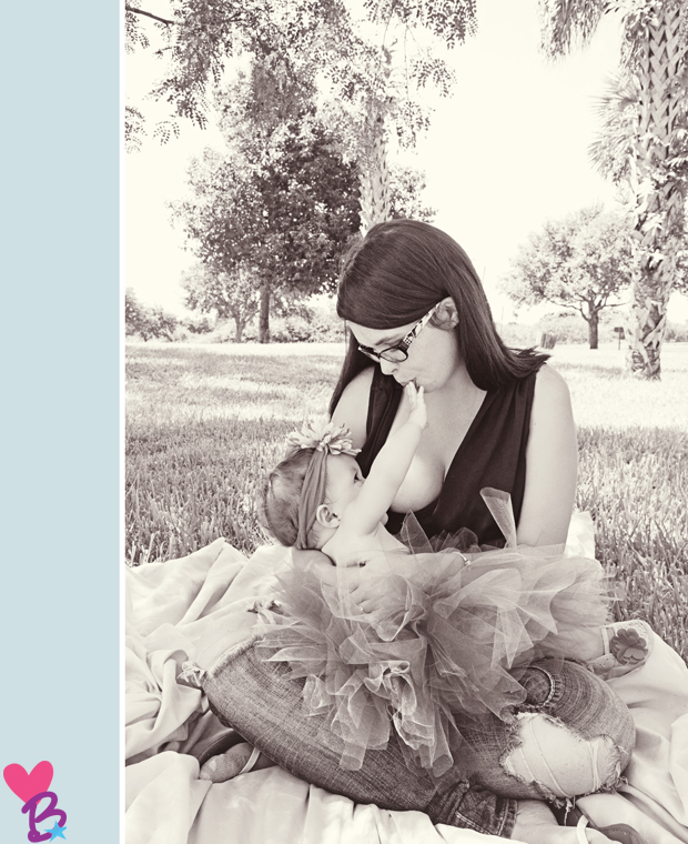 Mother-daughter breastfeeding picnic photo shoot in the park