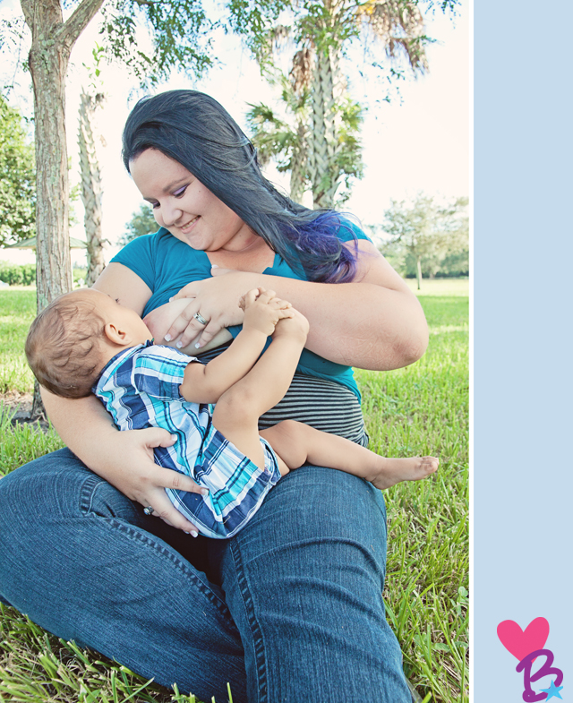 Park breastfeeding photo shoot