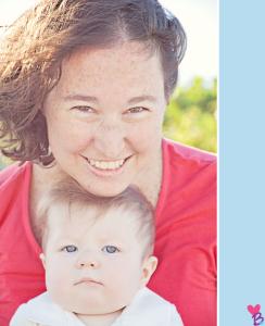 Beach shoot mother baby headshot
